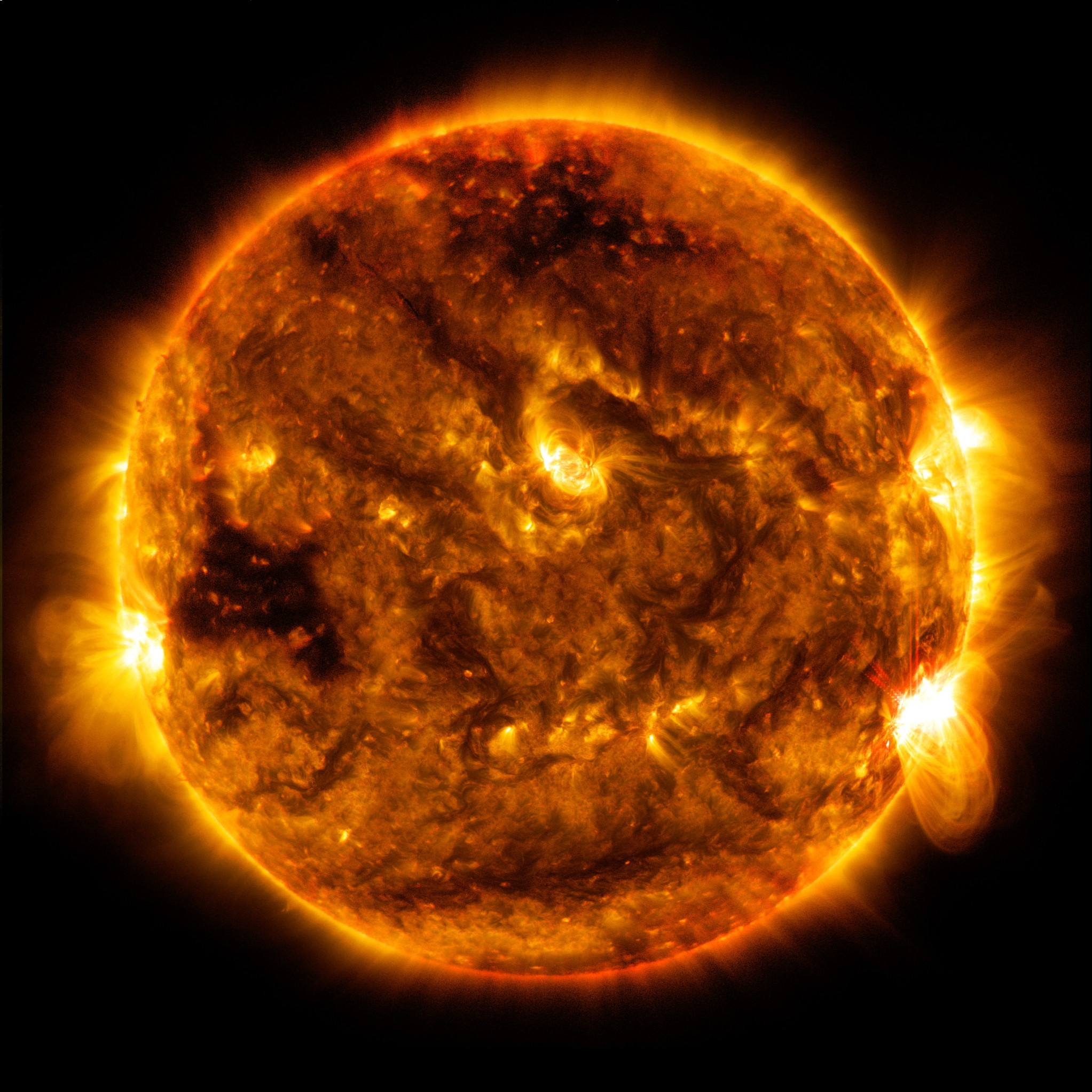 planets surrounding the sun - HD4096×4096